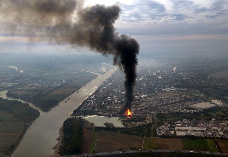 Explosión en una planta química de Alemania.