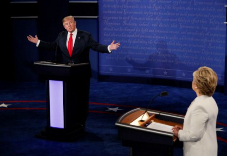 Hillary Clinton y Donald Trump se enfrentaron en el último debate presidencial.