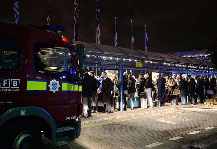 London City Airport evacuación.