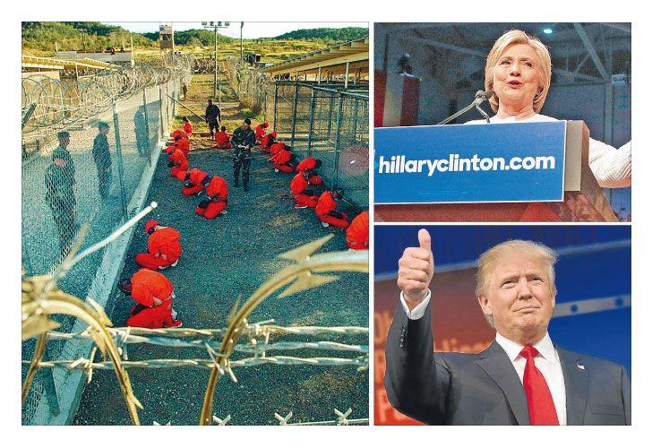 Presos. La ONU y la Cruz Roja, entre otras instituciones, afirman que los detenidos están en condiciones inhumanas. Un tema que enfrenta a la demócrata y al republicano.