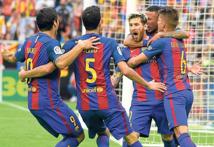 Figura. El segundo, sobre la hora, le dio el triunfo al Barcelona.