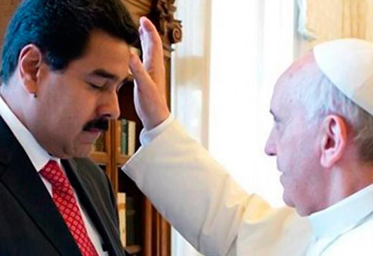 Maduro con el Papa Francisco