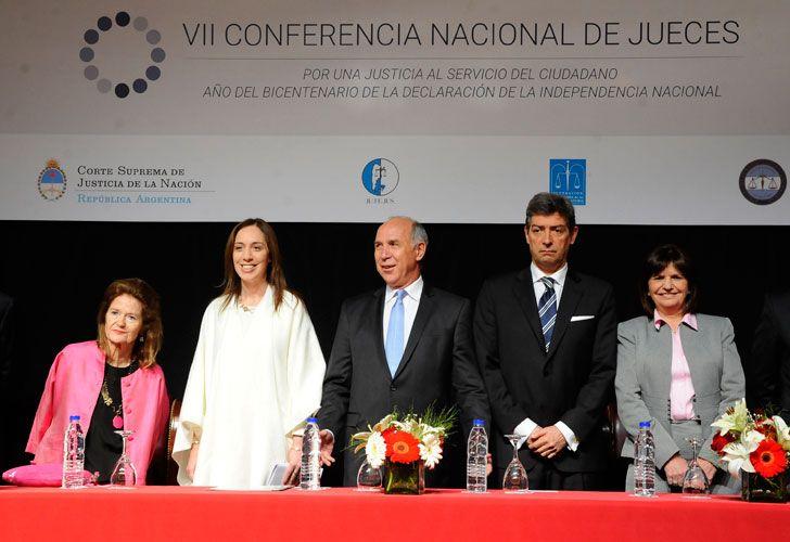 Vidal y Lorenzetti conferencia jueces