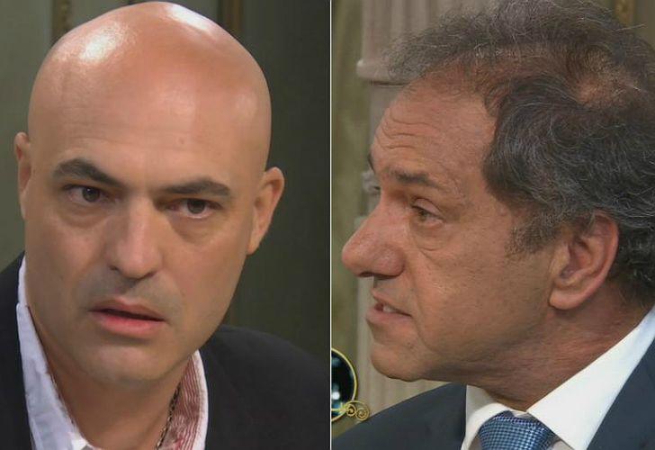 Salinas increpó en vivo a Scioli, durante el programa de Mirtha Legrand