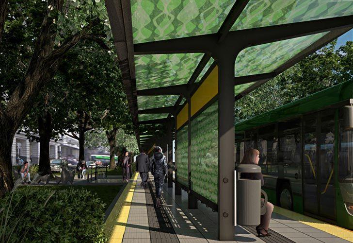 Renders del futuro metrobus del bajo.