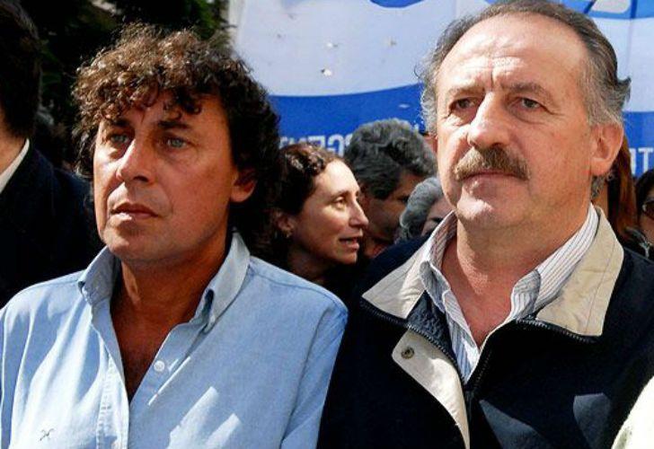 Los gremialistas Pablo Micheli y Hugo Yasky.