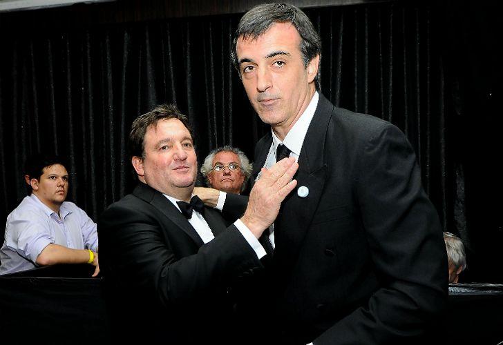 Alejandro Macfarlane, titular de la Fundación del Hospital de Clínicas, junto al ministro Esteban Bullrich.