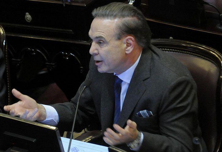 El jefe del bloque de senadores nacionales del PJ-FpV, Miguel Pichetto.