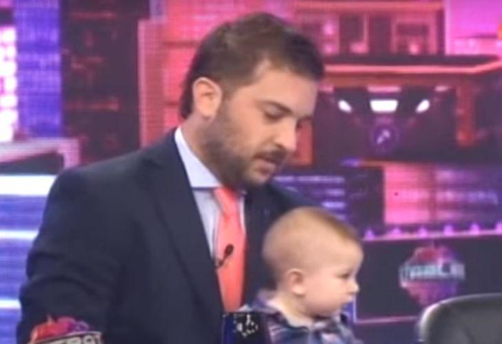 Diego Brancatelli presentó a su hijo en Intratables.