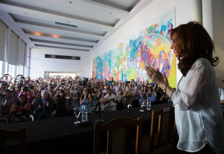 La expresidenta en Florencio Varela.