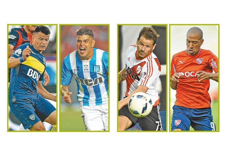 Hermanos bou. Walter, delantero de Boca, y Gustavo, goleador de Racing. frente a frente. River apuesta por Mora, el Rojo le pone fichas a Vera.