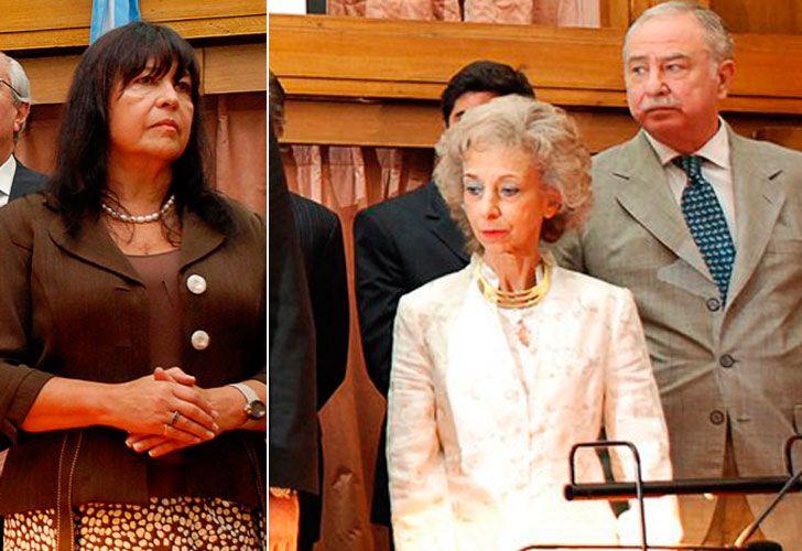 Jueces Ana María Figueroa, Eduardo Riggi y Liliana Catucci
