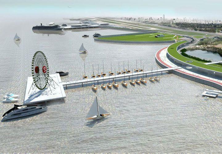renovadA. Así quedaría la zona frente al río ubicada sobre la avenida Rafael Obligado, con restaurantes y hasta un anfiteatro.