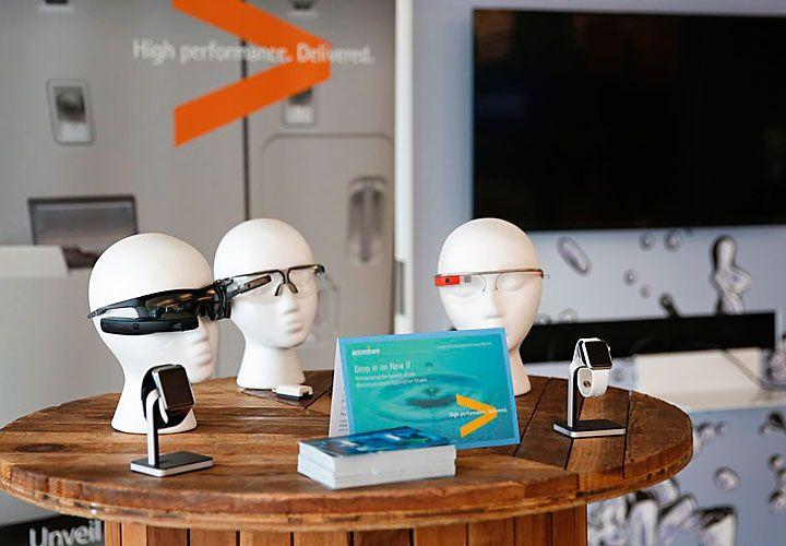 desarrollos. Realidad virtual y sensores se exhiben en el Liquid Studio en California.