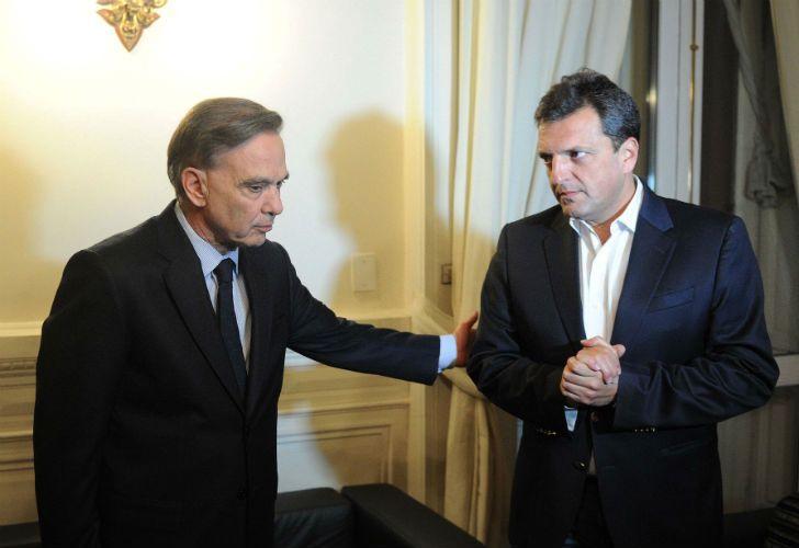 Massa y Pichetto se reunieron para acercar posiciones sobre el proyecto de Ganancias.