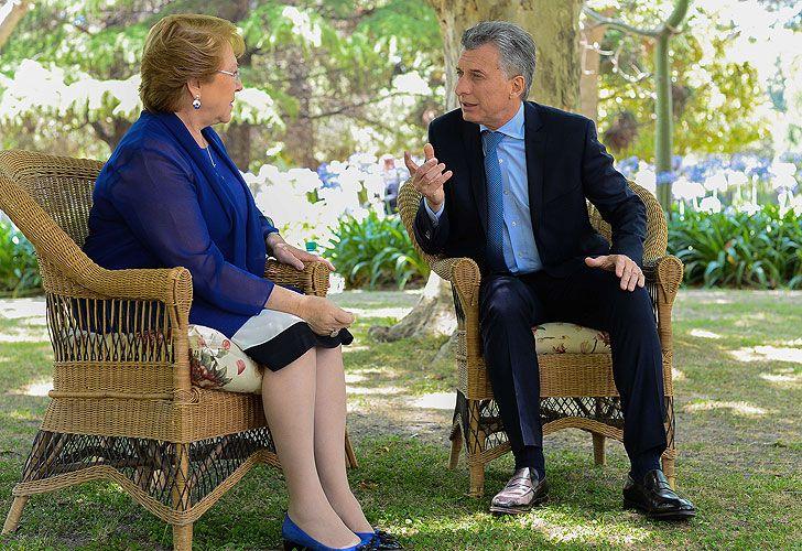 Bachelet y Macri