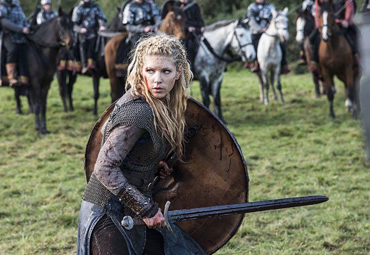 GUERRERA. Como Lagertha en el campo de batalla de la serie que en EE.UU. se emite por History y aquí por FOX Action.