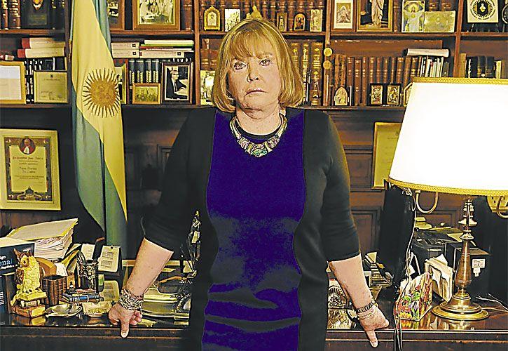 protagonistas. La jueza Servini de Cubría y Javier Medín, reemplazante de Armando Pérez.