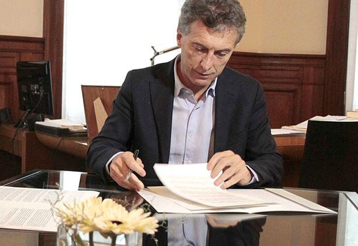 Mauricio Macri, presidente.