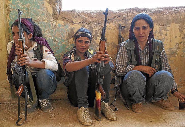 Amenazadas. EI puso a las mujeres de las montañas del Kurdistán en la mira –considera que no aplican la ley del islam–, con lo cual viven bajo un peligro duplicado.