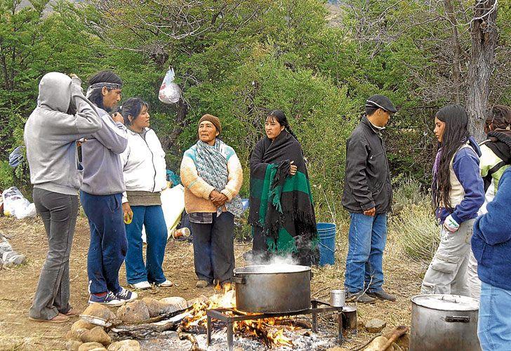 En lucha. La familia Benetton prefirió quedar al margen de un enfrentamiento que encierra la cuestión de la pobreza en los pueblos originarios.