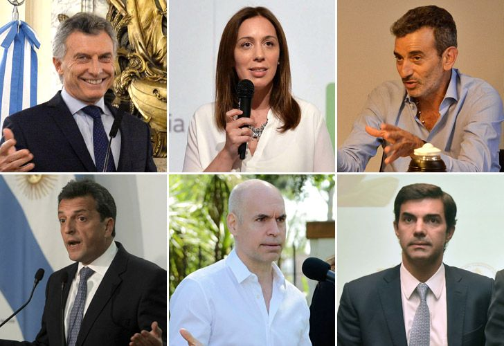 Macri, Vidal, Randazzo, Massa, Larreta y Urtubey