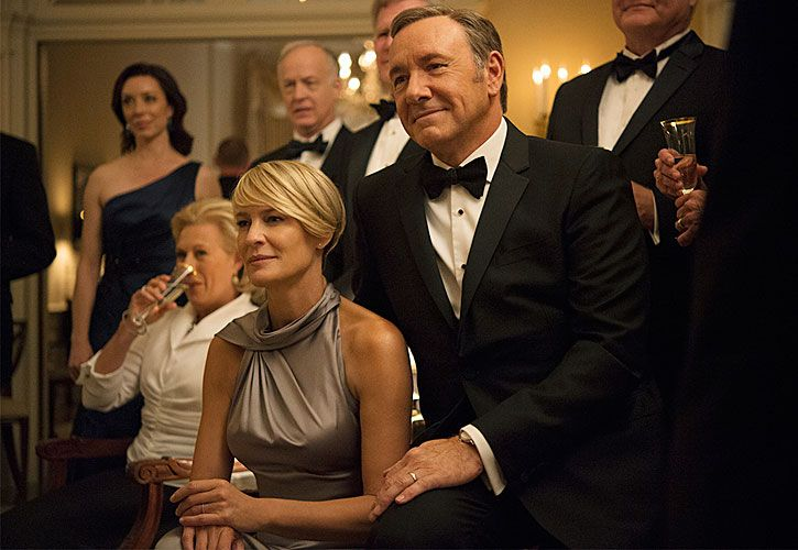 Política. House of Cards, con Robin Wright y Kevin Spacey, primer éxito del streaming mundial.