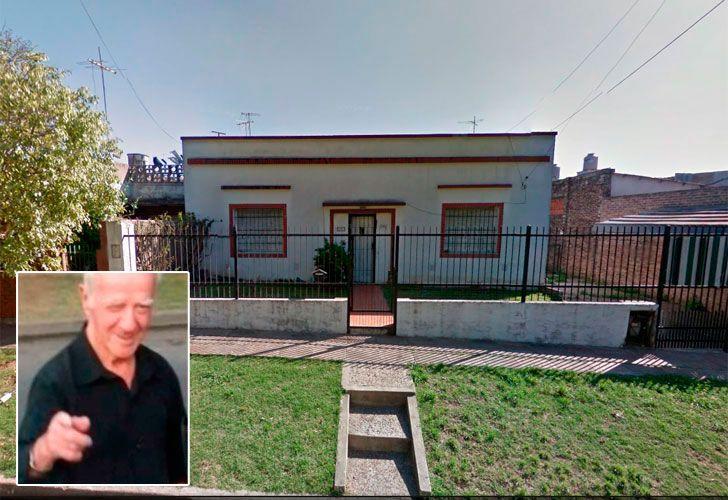 Vivienda del jubilado asesinado en Villa Ballester