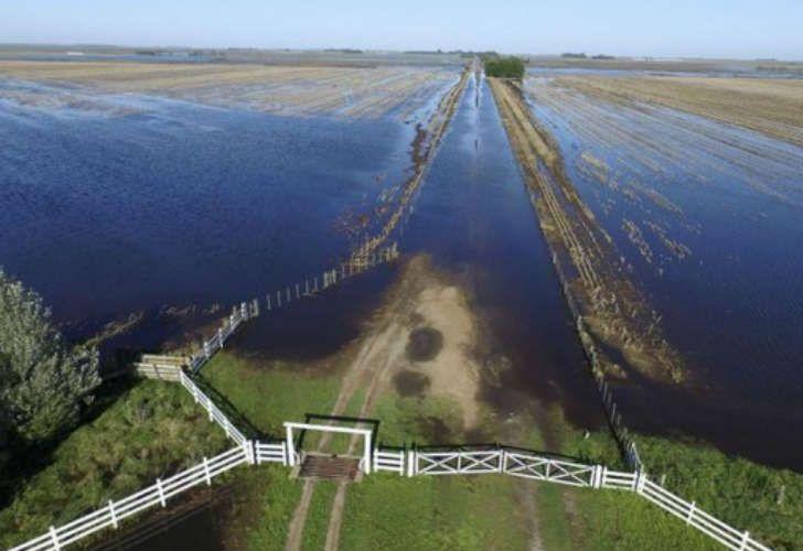 Inundaciones en el noroeste de la provincia de Buenos Aires.