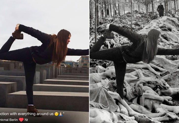 Un artista recopila las burdas fotografías que miles de turistas se hacen a diario en el monumento de Peter Eisenman en Berlín y las compara con el verdadero horror del Holocausto.