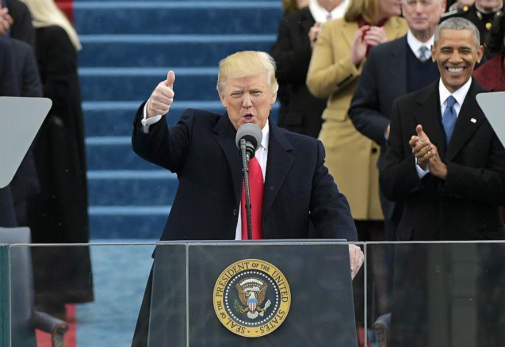 Encendido discurso de Trump.