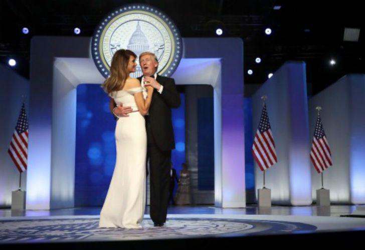 El Día de la Inauguración presidencial concluyó con el baile del presidente Donald Trump y su mujer Melania.