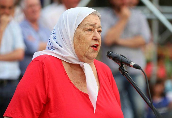 Hebe de Bonafini, titular de Madres de Plaza de Mayo.