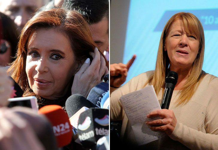 Izquierda: la expresidenta Cristina Fernández de Kirchner. Derecha: la diputada Margarita Stolbizer.