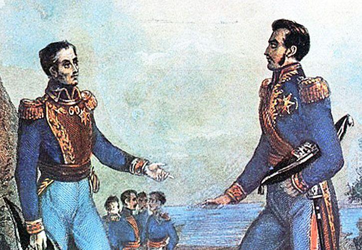 Negociaciones. Bolívar y San Martín apostaron por la unidad hispanoamericana.