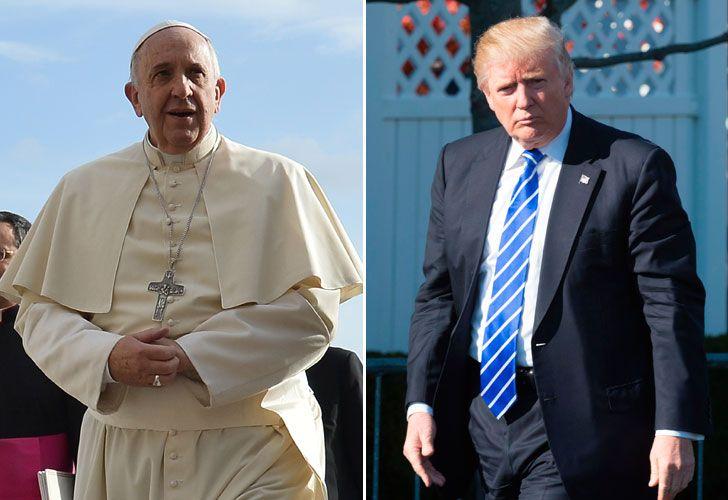 INFLUYENTES. Bergoglio es cuestionado por el ala más conservadora de la Iglesia Católica, que ve a Trump con buenos ojos. El mandatario de Estados Unidos, en tanto, se enfrenta a los progresistas y liberales en su país. Dos figuras opuestas.