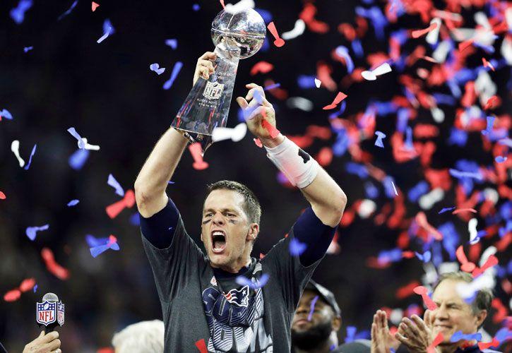 Héroe americano. Tom Brady, de Los Patriotas, campeón del Super Bowl.
