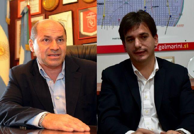 Sebastián Galmarini, senador bonaerense por el Frente Renovador, y Mario Secco, intendente de Ensenada.