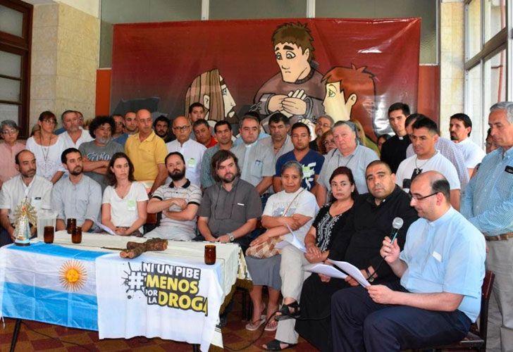 Comisión Nacional de Pastoral de Adicciones y Drogadependencia, que coordina el sacerdote José María Di Paola.