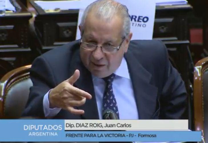 El diputado del Frente Para la Victoria, Juan Carlos Díaz Roig.