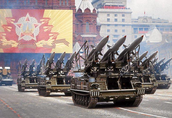Desfile. Una de las exhibiciones de poder del ejército ruso.