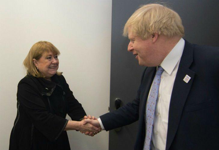 La canciller Susana Malcorra y su par británico, Boris Johnson.
