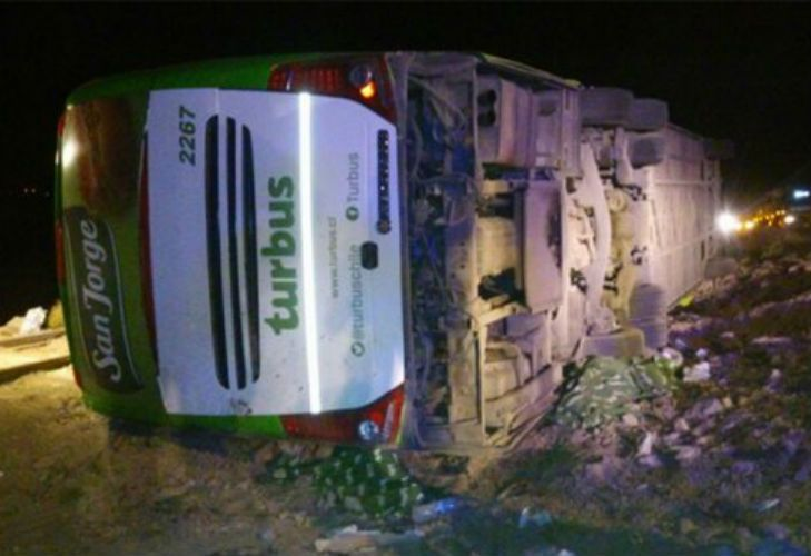 El accidente tuvo lugar en la ruta 7, a la altura del Parque Provincial Aconcagua.