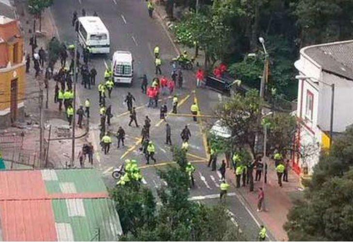 Explosión en Bogotá.