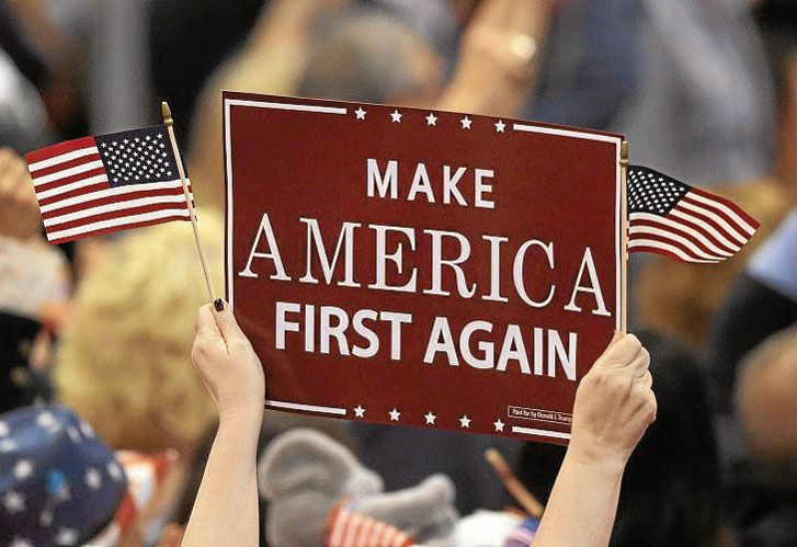 Lema. Que impone el presidente norteamericano para aislar a su país.