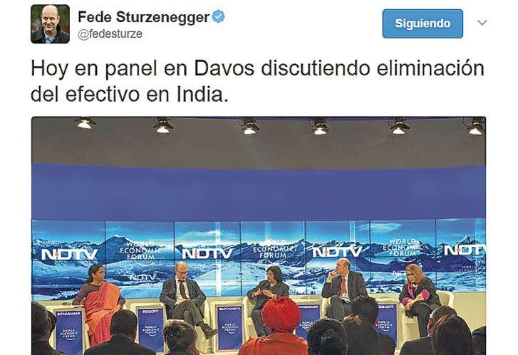 Davos. Sturzenegger disertó sobre el tema.