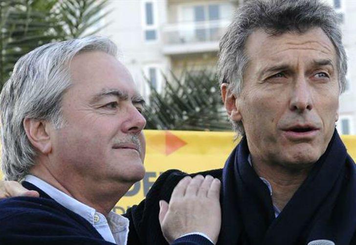 Federico Pinedo y Mauricio Macri.