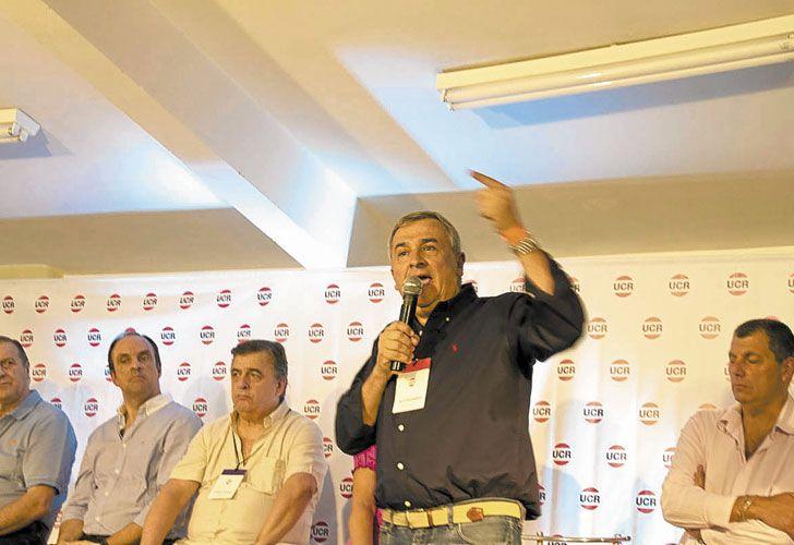 Correligionarios. Morales fue punzante. Estuvieron los históricos Coti Nosiglia, Jesús Rodríguez y Freddy Storani.