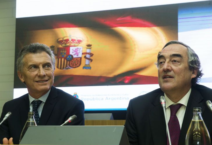 Macri y Juan Rosell.