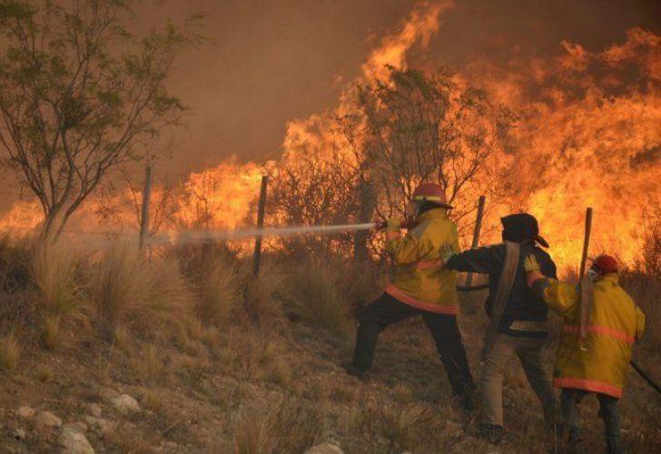 Incendios en La Pampa.